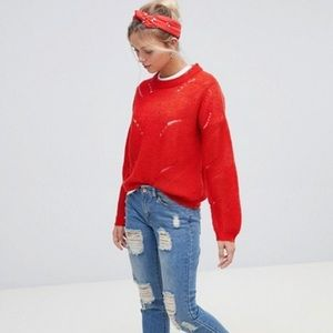NWT Asos Red Sweater